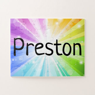 Rainbow Personalized Kids Children's Name Puzzle