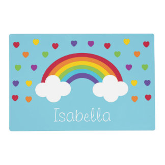 Rainbow Personalized Placemat Laminated Placemat