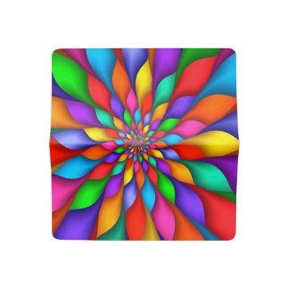 Rainbow Petals Checkbook Cover