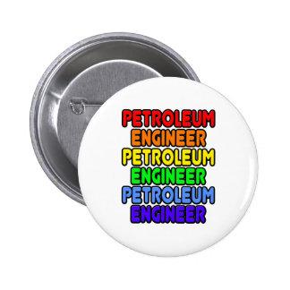 Rainbow Petroleum Engineer 2 Inch Round Button