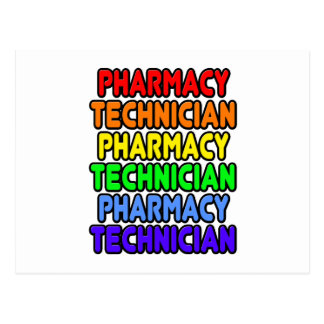Rainbow Pharmacy Technician Postcard