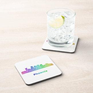 Rainbow Phoenix skyline Beverage Coaster