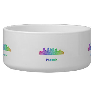 Rainbow Phoenix skyline Bowl
