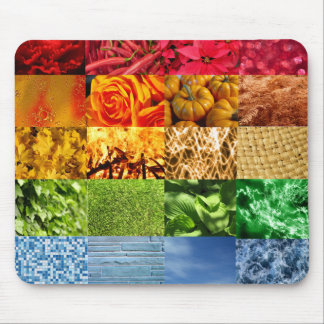 Rainbow Photo Collage Mouse Pad