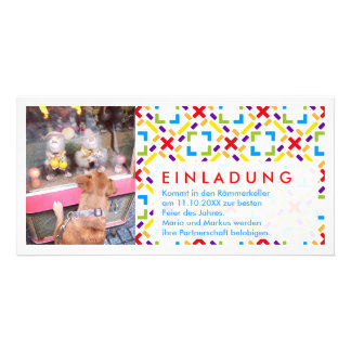 Rainbow photo invitation