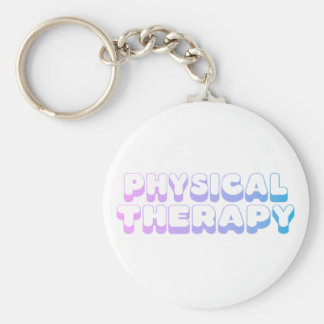 Rainbow Physical Therapy Basic Round Button Keychain