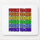 Rainbow Physics Teacher Mouse Pad