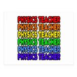Rainbow Physics Teacher Postcard