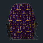 "Rainbow Pi Pattern Courier Bag<br><div class=""desc"">Cool and funky rainbow colored Pi pattern on purple design. 3.14 is the number π and March 14th is Pi Day</div>"
