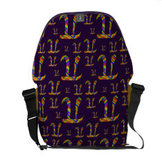 Rainbow Pi Pattern Courier Bag at Zazzle