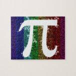 Rainbow Pi Sign Jigsaw Puzzles