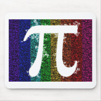 Rainbow Pi Sign Mouse Pad