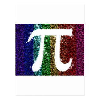 Rainbow Pi Sign Postcard