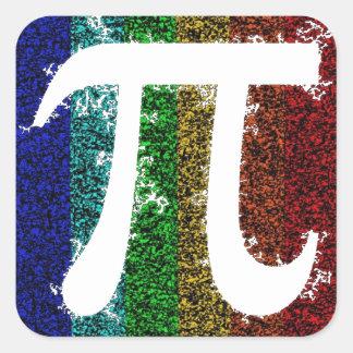 Rainbow Pi Sign Square Sticker