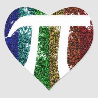 Rainbow Pi Sign Stickers
