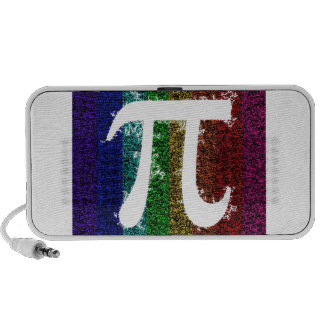 Rainbow Pi Sign Travel Speakers