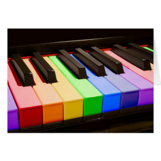 Rainbow Piano Card