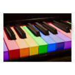 Rainbow Piano Greeting Card