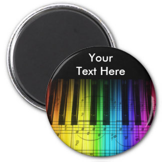 Rainbow Piano Keyboard and Notes Magnet