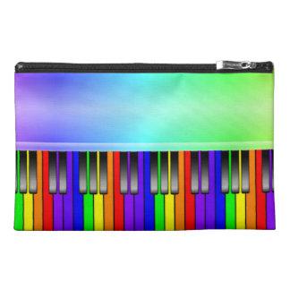 Rainbow Piano Keyboard Travel Accessory Bags