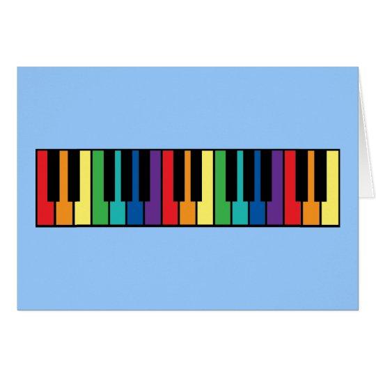 Rainbow Piano Keyboard Card