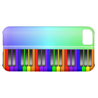 Rainbow Piano Keyboard Case For iPhone 5C