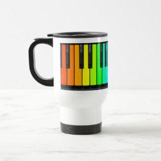 Rainbow Piano Keyboard Commuter Mug