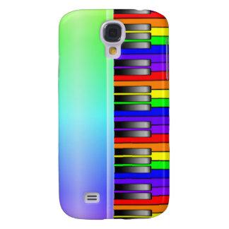 Rainbow Piano Keyboard Galaxy S4 Case