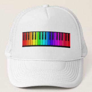 Rainbow Piano Keyboard Hat
