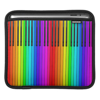 Rainbow Piano Keyboard iPad Sleeve