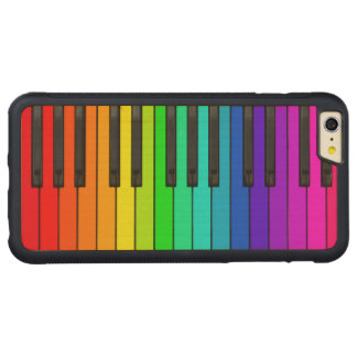 Rainbow Piano Keyboard iPhone 6 Plus Wood Case