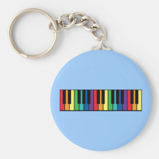 Rainbow Piano Keyboard Keychain