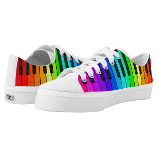 Rainbow Piano Keyboard Low Top Shoes Printed Shoes