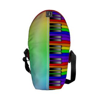 Rainbow Piano Keyboard Messenger Bag
