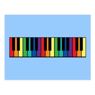 Rainbow Piano Keyboard Postcards