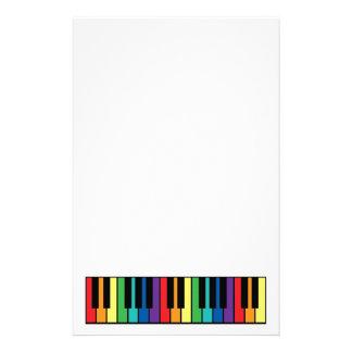 Rainbow Piano Keyboard Stationery