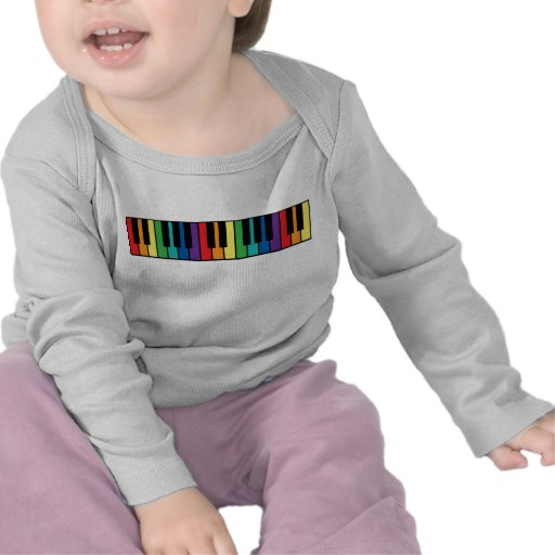 Rainbow Piano Keyboard T Shirts