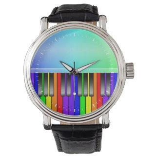 Rainbow Piano Keyboard Wrist Watch
