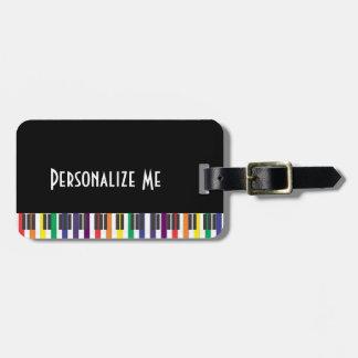 Rainbow Piano Keys Luggage Tag