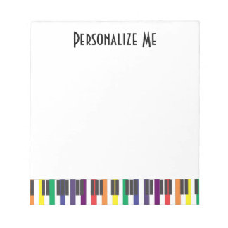 Rainbow Piano Keys Notepad