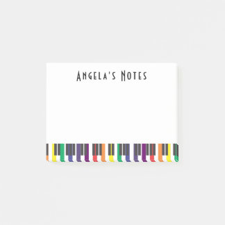Rainbow Piano Keys Post-it Notes