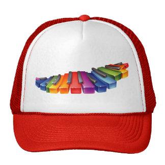 Rainbow Piano Keys Trucker Hat