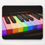 Rainbow Piano Mouse Pad
