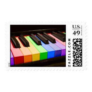 Rainbow Piano Postage