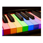 Rainbow Piano Postcard
