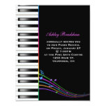 """Rainbow Piano Recital 4.25"""" X 5.5"""" Invitation Card"""