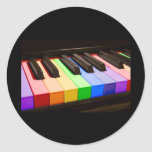 Rainbow Piano Sticker