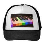 Rainbow Piano Trucker Hat