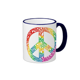 Rainbow Pieces of Peace Coffee Mug