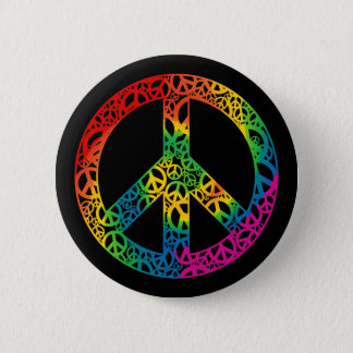 Rainbow Pieces of Peace Pinback Button